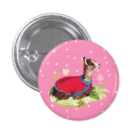 Ruby Alpaca Button