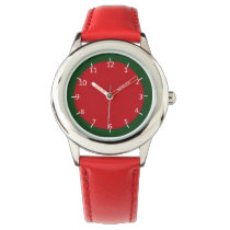 Ruby and Emerald-Colored Wrist Watch