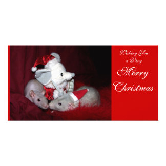 Ruby and Lydia Holiday Photo Card A