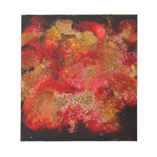 Ruby and Onyx Geode Collection Note Pad