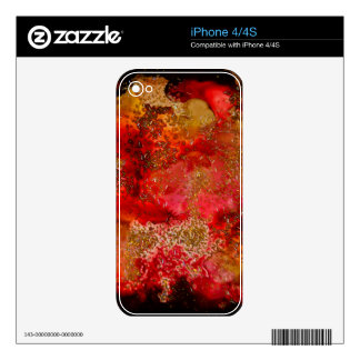 Ruby and Onyx Geode Collection Skin For iPhone 4S