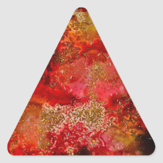 Ruby and Onyx Geode Collection Triangle Sticker