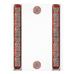 Ruby and Silver Celtic Knotwork Letterhead