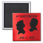 RUBY ANNIVERSARY-MAGNET 2 INCH SQUARE MAGNET