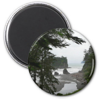 Ruby Beach Coastline Fridge Magnet