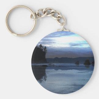Ruby Beach Olympic National Park Basic Round Button Keychain