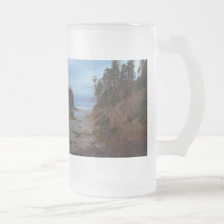 Ruby Beach Olympic National Park Frosted Glass Beer Mug