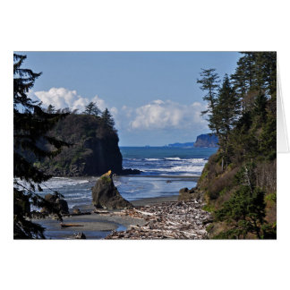 Ruby Beach on the Olympic Peninsula, Washington St Card