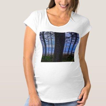Beach Themed Ruby Beach sea shore Maternity T-Shirt