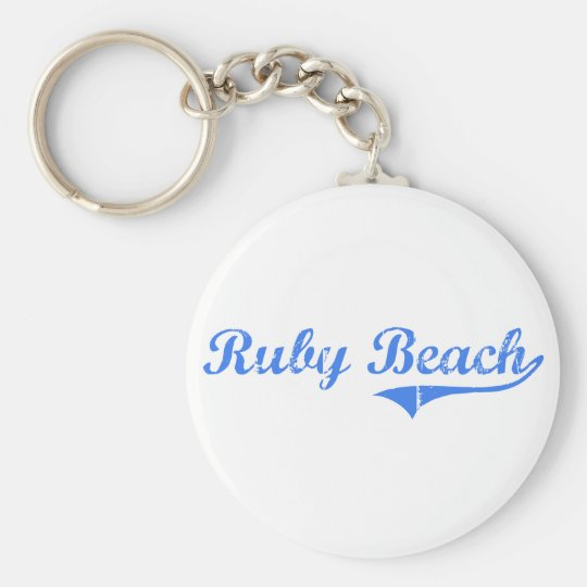 Ruby Beach Washington Classic Design Keychain