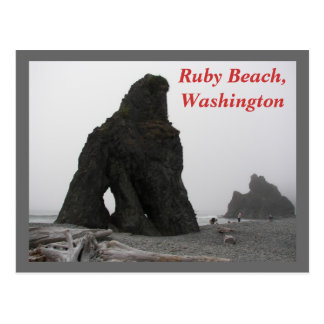 Ruby Beach, Washington Travel Postcard