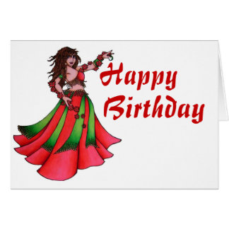 Ruby Belly Dancer Greeting Cards