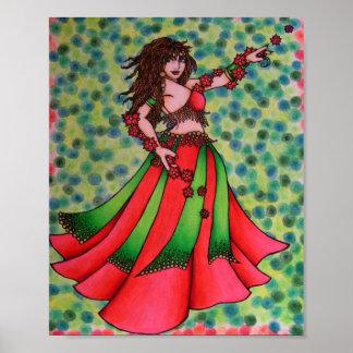 Ruby Belly Dancer Print