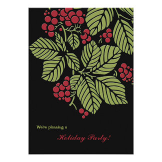 Ruby Berries - Holiday Party Invitation
