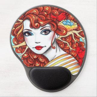 Ruby Bird Rosie Circular Mouse Pad