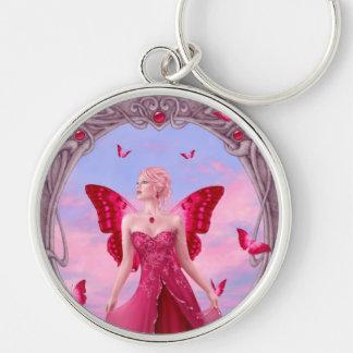 Ruby Birthstone Fairy Premium Keychain