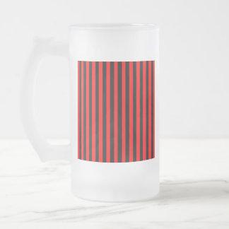 Ruby Black Frosted Glass Beer Mug