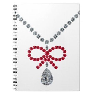 Ruby Bow Necklace Notebook