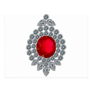 Ruby Brooch Postcard