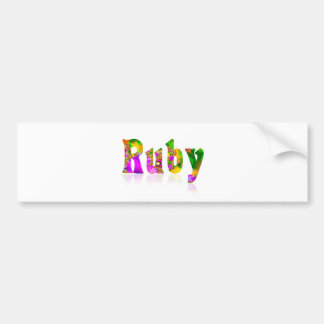 Ruby Bumper Sticker