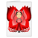 Ruby Butterfly Princess Greeting Cards