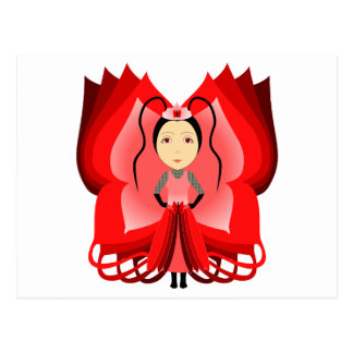 Ruby Butterfly Princess Post Cards