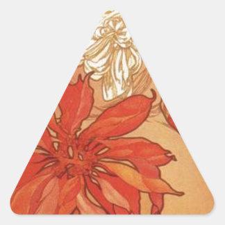 Ruby by Alphonse Mucha Triangle Sticker