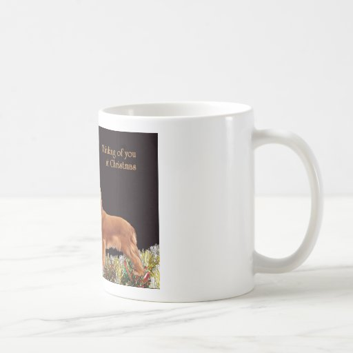 Ruby Christmas Cavalier Coffee Mugs