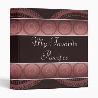 Ruby Circles Recipe Book Binder