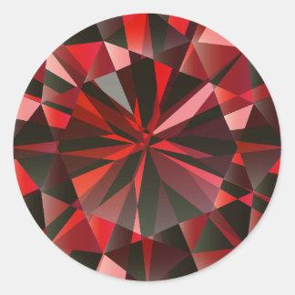 Ruby Classic Round Sticker