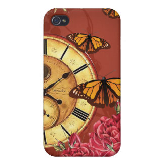 Ruby Clock and Butterfly iPhone Cover