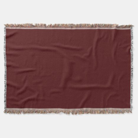 Ruby-Colored Throw Blanket