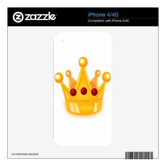 Ruby Crown iPhone 4S Skin