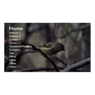 Ruby-crowned kinglet Double-Sided standard business cards (Pack of 100)