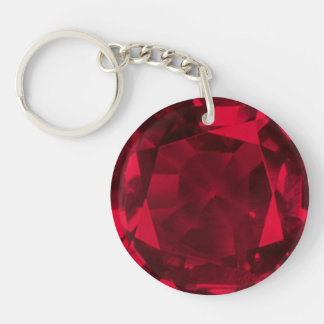 Ruby Double-Sided Round Acrylic Keychain