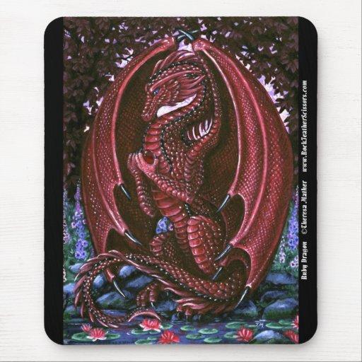 Ruby Dragon Mousepad