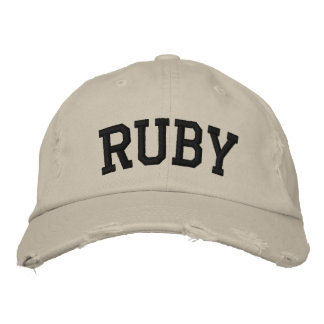 Ruby Embroidered Hat Embroidered Baseball Cap