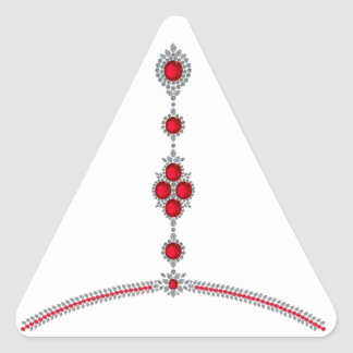 Ruby Enchantment Necklace Triangle Sticker