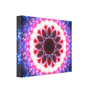 Ruby Energy Portal Canvas Print