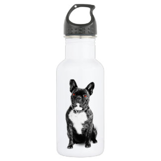Ruby Eyed French Bulldog Stainless Steel Water Bottle