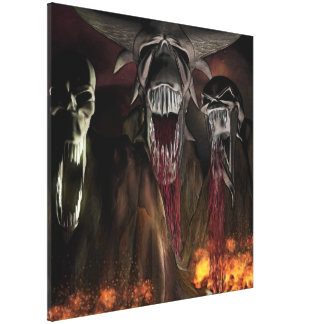 Ruby Falls Horror Art Canvas Print