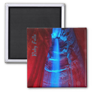 Ruby Falls 2 Inch Square Magnet