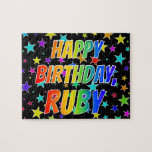 """[ Thumbnail: """"Ruby"""" First Name, Fun """"Happy Birthday"""" Jigsaw Puzzle ]"""
