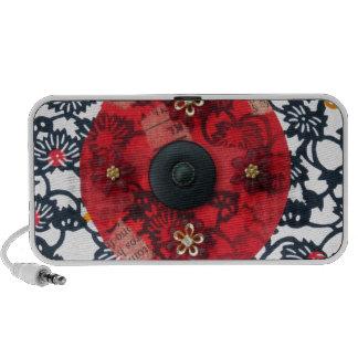 Ruby Flower Mandala - collage iPhone Speaker