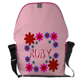 RUBY Flowers Courier Bag