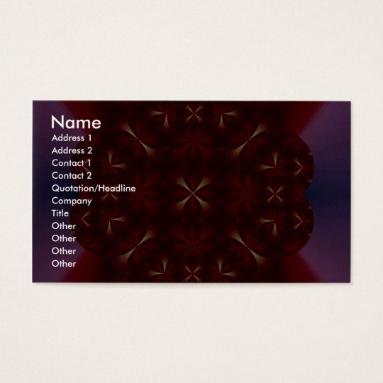 Ruby Fractal Business Card