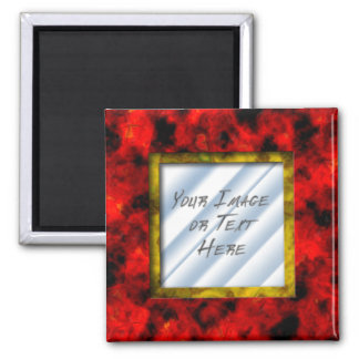 Ruby Frame 2 Inch Square Magnet