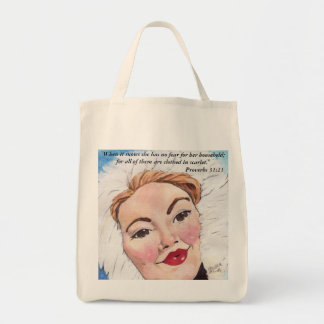 Ruby Frost Proverbs 31:21 Tote Bag