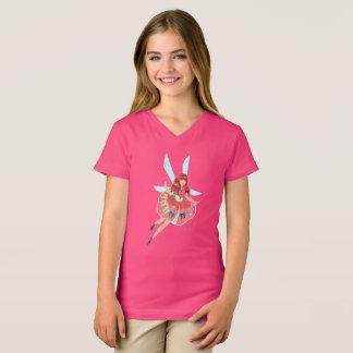 Ruby Girls' Fine Jersey V-Neck T-Shirt
