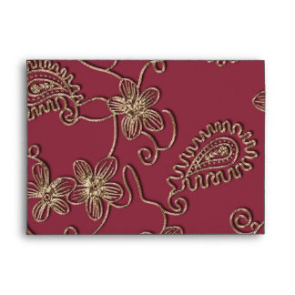 Ruby Gold Christmas Envelope